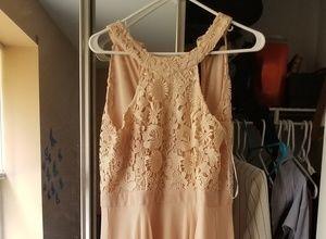 Blush Pink Lulus Bridesmaids Maxi dress